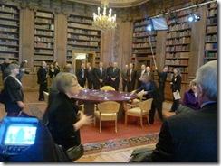 צילומי תוכנית עבור ה-BBC בספריית ארמון המלוכה