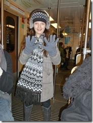 נמוש ברכבת התחתית בסטוקהולם, בדרך למסיבת עיתונאים