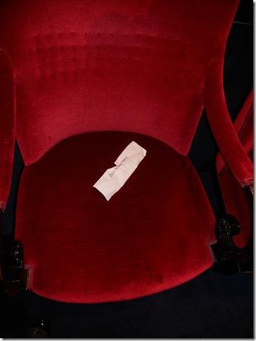 הכיסא של פרופ' שכטמן על הבמה
