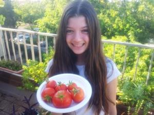 נעמה וקטיף העגבניות